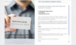 Business cards website screenshot